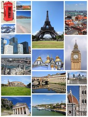 Visit Europe -  postcard collage