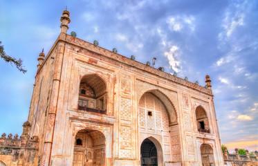 Entrance of Bibi Ka Maqbara Tomb, also known as Mini Taj Mahal. Aurangabad, India