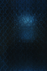 Vintage clouded glass with a slightly blurred abstract pattern. Vintage Blue Textured Dark Background