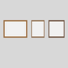 Blank photo frames. vector.