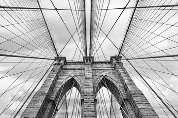 Printed kitchen splashbacks Brooklyn Bridge Brooklyn bridge in NYC, USA