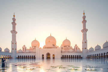 Canvas Prints Abu Dhabi Sheikh Zayed Mosque