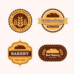 set of bakery vector logo template. bread logo template. emblem logo