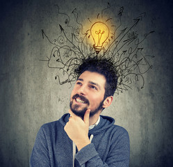 young man has a bright idea