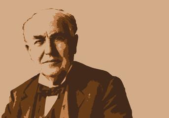Edison - portrait - Thomas Edison - inventeur -électricité - industriel - cinéma - invention