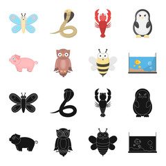 An unrealistic black,cartoon animal icons in set collection for design. Toy animals vector symbol stock web illustration.