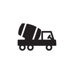 cement mixer filled vector icon. Modern simple isolated sign. Pixel perfect vector  illustration for logo, website, mobile app and other designs