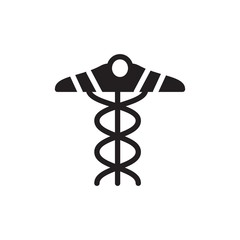 medical snake, medical sign filled vector icon