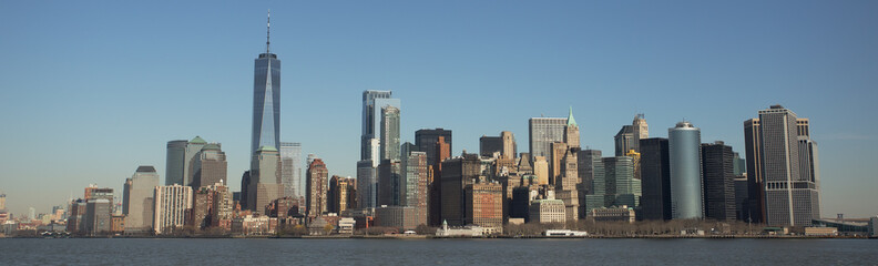 Manhattan Skyline and One World Trade Center