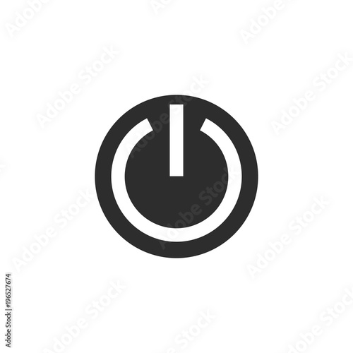 On Off Switch Icon Power Symbol Vector Illustration Stock Image