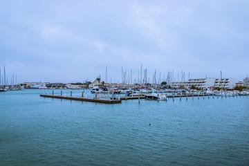 Autocollant pour porte Port Le port du Grau du Roi