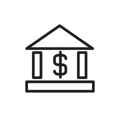 bank outlined vector icon. Modern simple isolated sign. Pixel perfect vector  illustration for logo, website, mobile app and other designs
