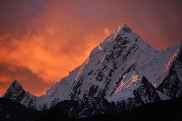 Siula Grande Sunset