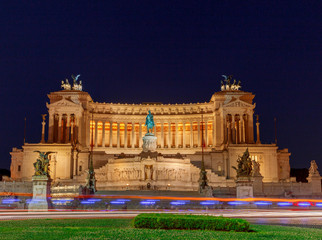 Rome. Altar of the Fatherland at night.