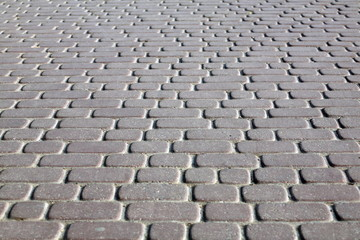 Cobblestone Pavement at day