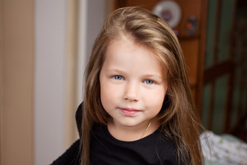 Portrait of the beauyiful  little girl