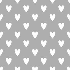 Seamless cute vector pattern with hearts - 196535638