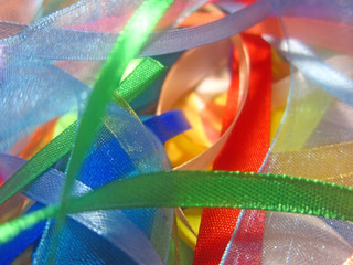 Decorative gift colorful ribbons
