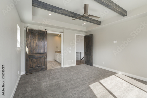 Modern Rustic Master Bedroom New Construction Stock Photo And
