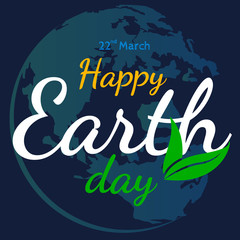 happy earth day vector flat graphic  background