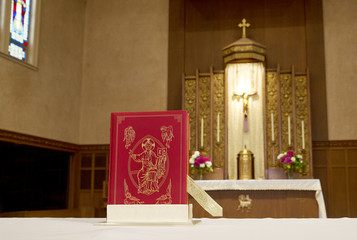 Liturgy of the Word on alter