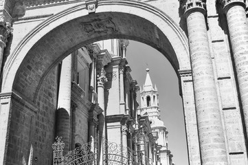 Cathedral Of San Francisco In Arequipa In Peru