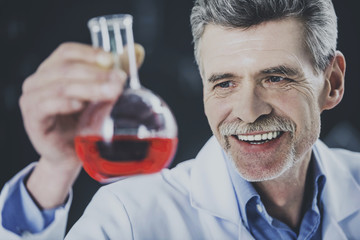 chemistry or science concept. Senior chemistry professor working  in  laboratory