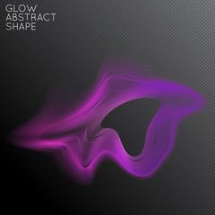 Abstract glow plasma shape