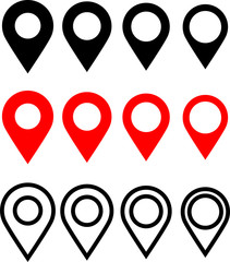 Map Pin Icon, Location Marker Pin On The Map