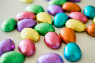 foil wrapped easter egg candy