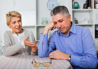 Mature couple decide family matters and find out relationship