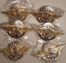 Syrian Army officers military airborne badge
