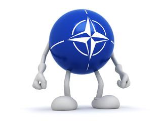 Flag of  NATO, 3d man