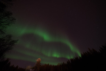 Magic Night.Spectacular show of the Northern Lights Aurora Eveness