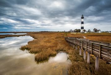 North Carolina Outer Banks Scenic Landscape Bodie Island Lighthouse NC Wall mural