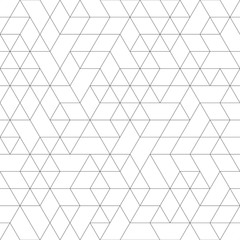 Seamless black and white background for your designs. Modern ornament. Geometric abstract pattern