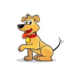 Cartoon dog puppy illustration
