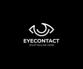 Eye vision logo template. Eyeball vector design. Optical logotype