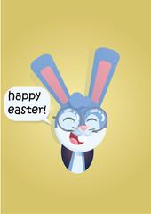 bunny head smiling