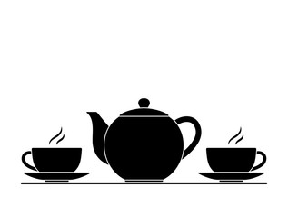teapot and cups of tea