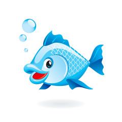 Cute cartoon fish illustration