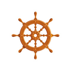 Ship steering wheel marine illustration