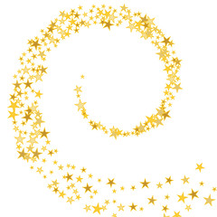 Gold stars on a white background. Vector illustration
