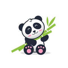 Cute panda teddy cartoon illustration