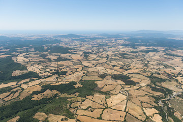 Aerial image of the countryside between Tuscania and Viterbo