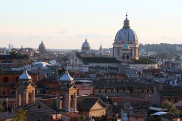 vista paesaggio urbano città di roma