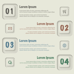 Abstract icons infographic