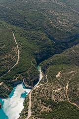 Aerial image of barrage de Sainte-Croix and gorges du Verdon gorges de Baudinard
