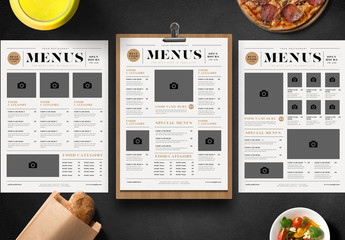 3 Menus with Newspaper Style Layout
