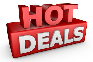 Hot Deals 3D Text